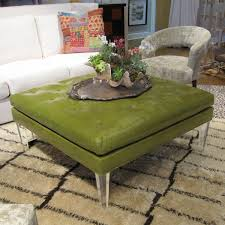 faux leather ottoman coffee table tags astonishing tufted
