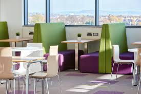 office canteen design nhs public heath wales cardiff design and sustainable furniture