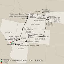 Map Of Colorado Cities And Towns America National Park Vacation Packages U0026 Tours Globus