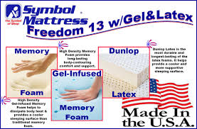 latex quote in box freedom 13 with latex gel infused memory foam mattress with latex