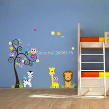 monkey baby rooms promotion shop for promotional monkey baby rooms monkey elephant lion wall stickers decorative cartoon tree wall decals for kindergarten baby room