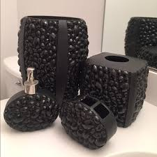 Bathroom Rug Sets Bed Bath And Beyond Bed Bath And Beyond Other Black Jeweled Bathroom Set Poshmark