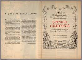 California Missions Map Covers A Map Of The Missions Presidios Pueblos And Some Of The