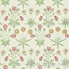 morris u0026 co wallpaper daisy willow pink