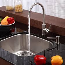 no water in kitchen faucet kitchen sinks vessel drop in stainless steel triple bowl corner