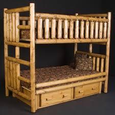 Bunk Beds Pine Rustic Pine Log Bunk Bed