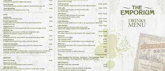 espresso drinks drinks menu