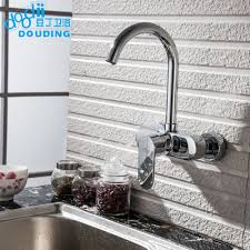 Wall Mount Kitchen Faucet Single Handle Popular Kitchen Wall Mixer Buy Cheap Kitchen Wall Mixer Lots From