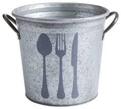 galvanized metal flatware holder rustic utensil holders and
