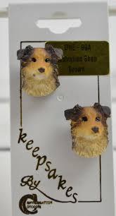 australian shepherd jewelry brown australian shepherd dog earrings novelty jewelry post