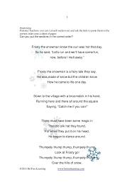 frosty snowman language activities