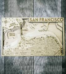 san francisco map painting san francisco carved wood map features local pride origin