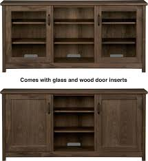 Media Cabinets With Glass Doors Media Cabinets With Doors Walnut Media Console With Wood Glass