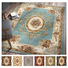 Xl Area Rugs Well Woven Agra Traditional Country Aubusson Floral Mansion