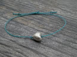bracelet silver turquoise images Heart bracelet turquoise friendship bracelet blue sliding knot jpg