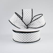 black and white polka dot ribbon 1 5 swiss dots ribbon white black 10 yards rg01685l6