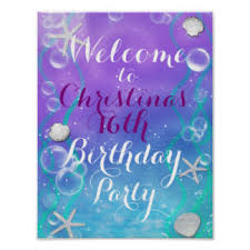 Welcome Table Under The Sea Posters Zazzle
