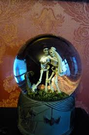 close up without flash of my musical snow globe with cute little