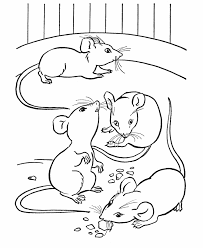 farm animal coloring mice eating cheese party farm