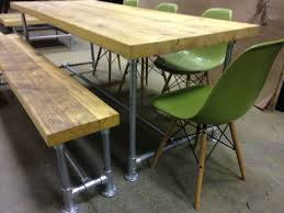 eames inspired dining table wings furniture and interiors scaffold board table and bench