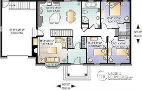 plan de maison de plain pied avec 4 chambres dé du plan de maison unifamiliale w3230