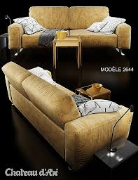 prix canapé chateau d ax meuble tv chateau d ax sofa chateau dax 2644 mod le 3d in canapé
