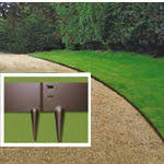 Steel Landscape Edging by Ever Edge Steel Lawn Edging Classic Brown On Sale Agardenplace Com