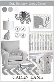 Gray Nursery Decor Clever Design Ideas Elephant Decor For Baby Room Nursery