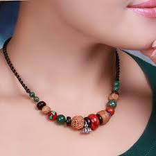 Costume Jewelry Unique Beaded Design 566 Jewelry Unique Ethnic Necklaces Bodhi Vintage Tibetan Seed