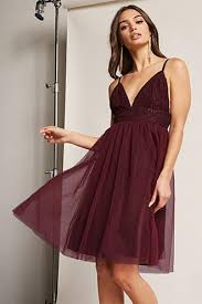 fit and flare tulle dress forever21