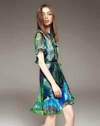 green silk half sheer sleeve a line mini dress green elenyun