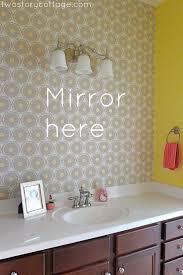 wallpaper accent wall lacey u0027s bathroom