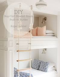 Bunk Bed For Girl by Boy Girl Shared Built In Bunk Room Diy Mikael Monson Photography