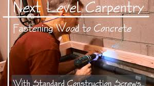 master carpenter hack how to fasten wood to concrete with