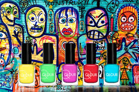 qlour nail polish from cologne germany u2013 graffiti pink swatch and