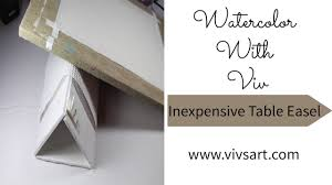 how to make a simple table top easel how to make an inexpensive table top easle for watercolor painting