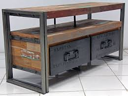 industrial console table with drawers new industrial furniture for captivating rustic tv console table