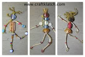 how to make bead people craft tutorial youtube