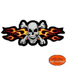 biker jacket vest yellow flaming skull patch biker jacket vest amt custom shop