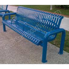 galvanized steel bench