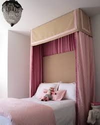 canopy bed curtains for girls sophisticated pink tan u0027s bedroom love the pelmet box over