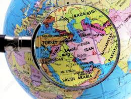 Mid East Map Focus On Middle East Stock Photo Picture And Royalty Free Image