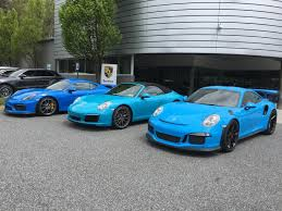 miami blue porsche blues brothers voodoo blue gt4 miami blue 991 2 riviera blue