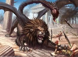 what are the formal names for mythical creatures winged tiger and