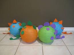 dinosaur paper lantern decoration kit your by adingkaki