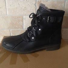 s ankle ugg boots ugg australia cecile navy waterproof leather duck boots size us