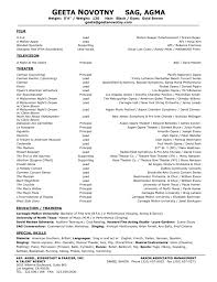 musical theatre resume template templates s saneme