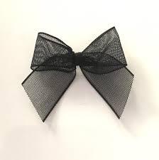 ribbon bows 10 black organza bows black ribbon bows black bows wedding