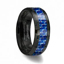 wedding ring reviews queenwish reviews for black and blue carbon fiber tungsten ring