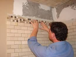 Installing Bathroom Mirror by How To Install Tile In A Bathroom Shower How Tos Diy